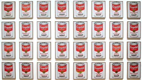 Warhol Campbells Soup Cans 1962